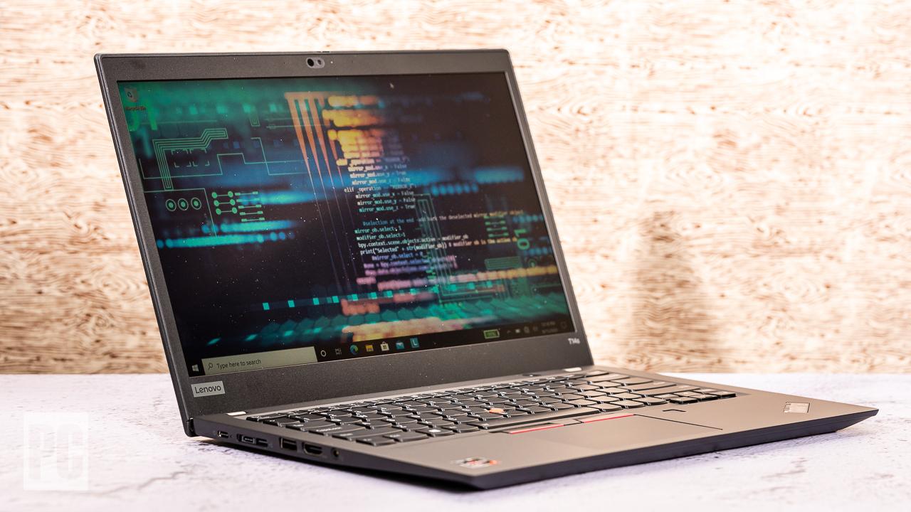 Lenovo ThinkPad T14s (AMD), угол обзора