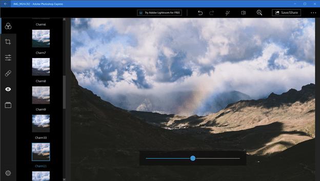 Charm edit on Photoshop Express
