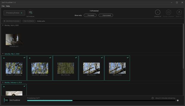 Добавляйте фотографии в DxO PureRAW для обработки шума и резкости