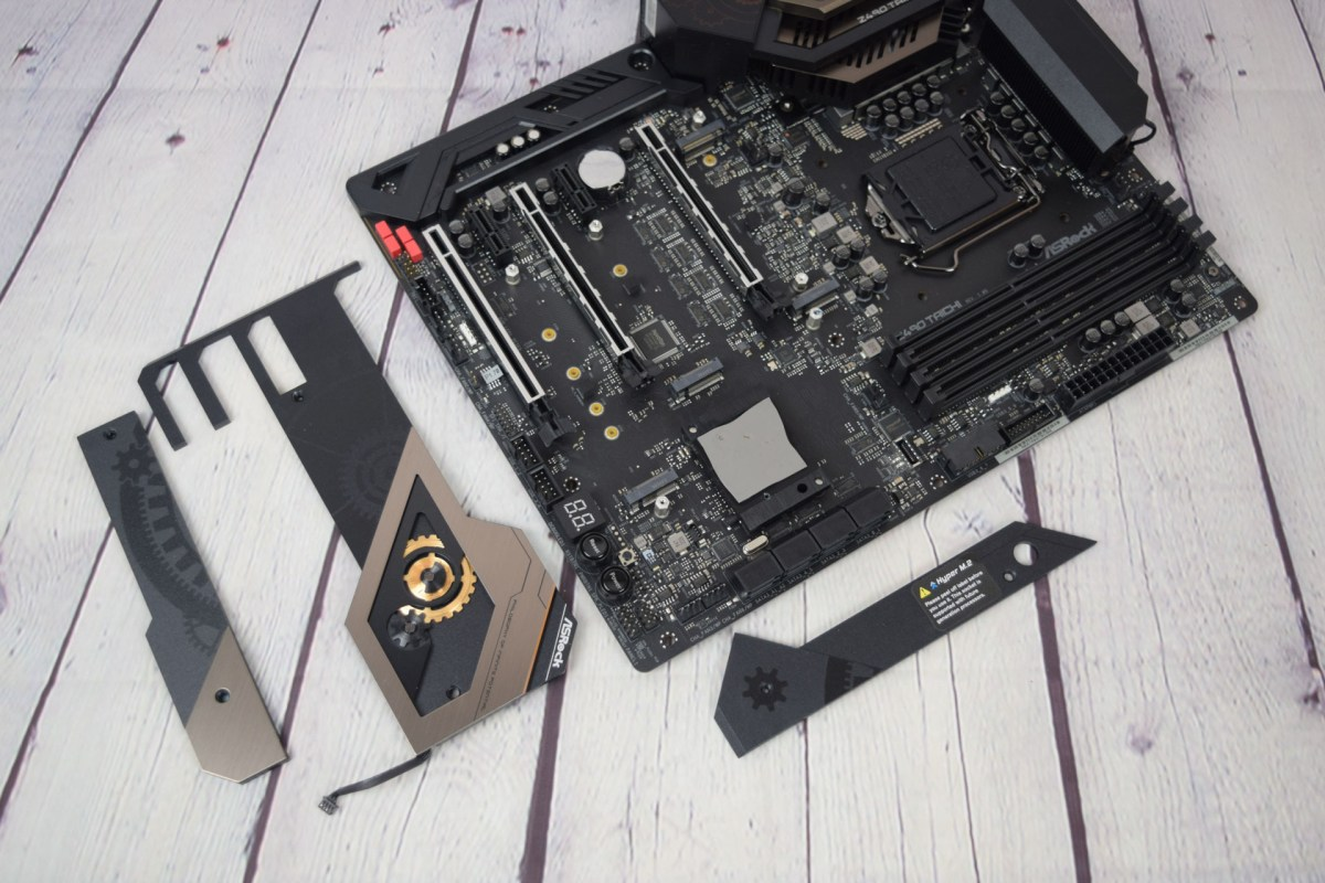 Asrock Z490 Taichi with heatspreaders removed 1