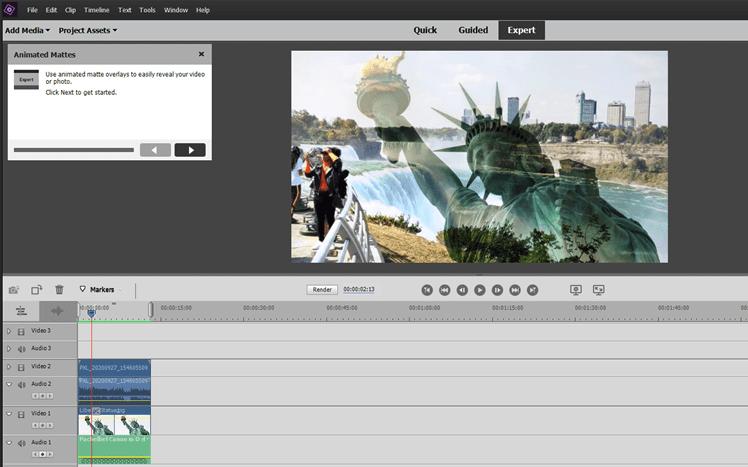Double Exposure in Adobe Premiere Elements