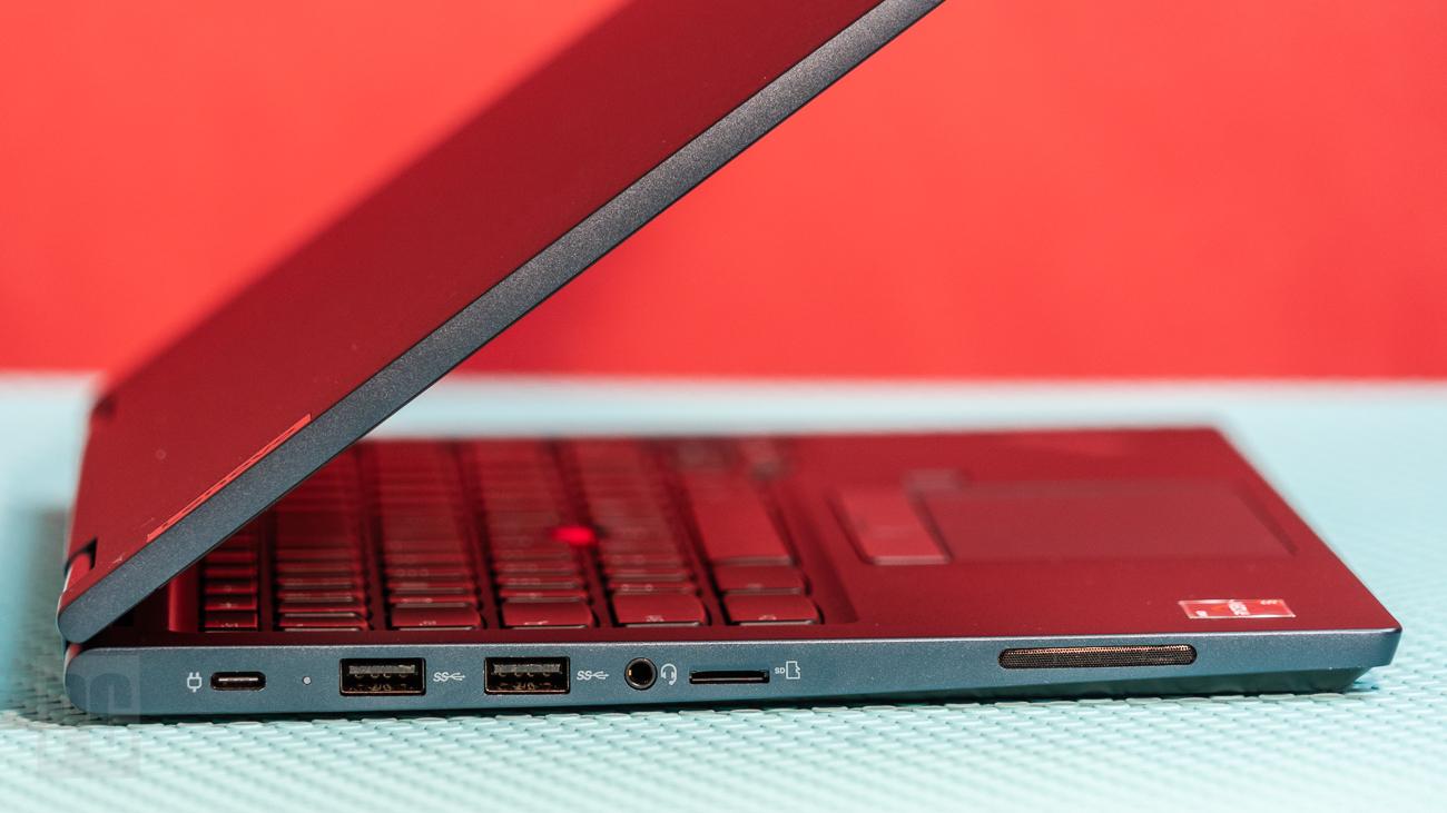 Lenovo ThinkPad C13 Yoga Chromebook left ports