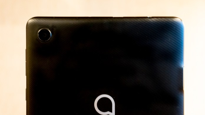 Cropped image of rear camera sensor