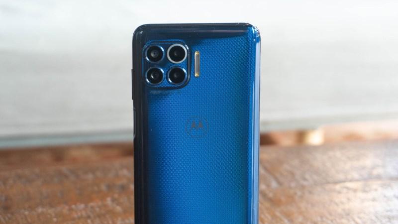 Back of Motorola One 5G showing camera module