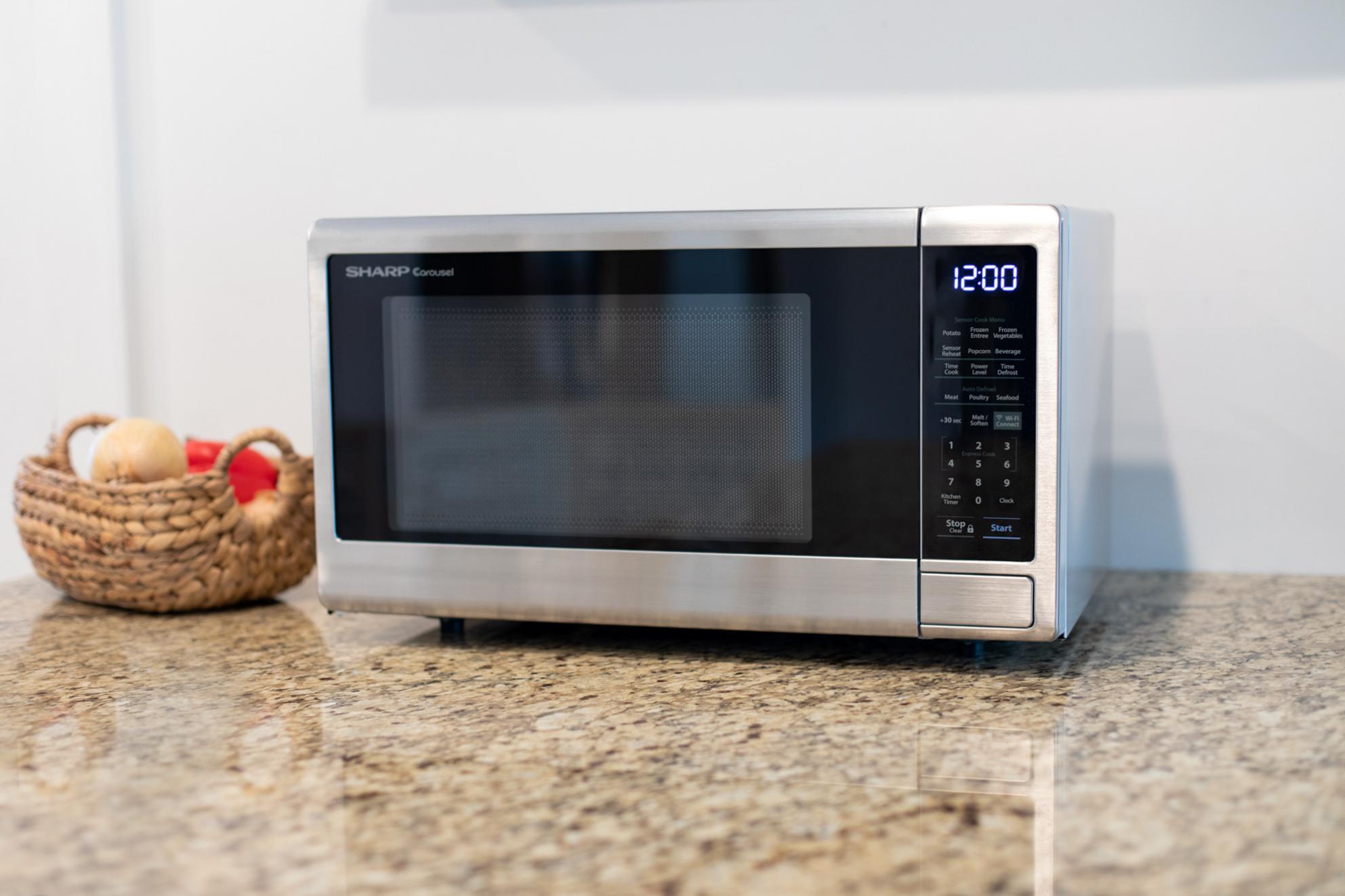 sharp smart countertop microwave oven smc1449fs