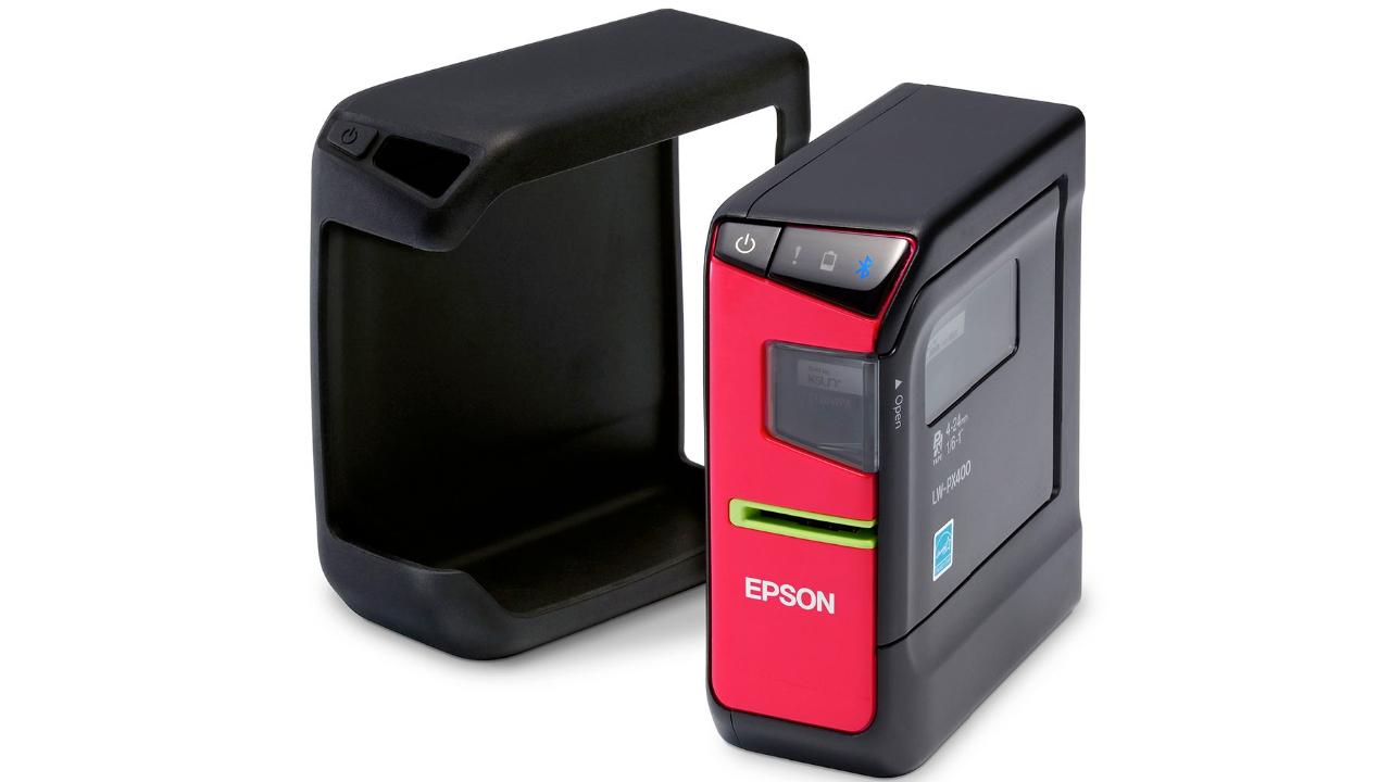Epson LW-PX400 и резиновый защитный кожух