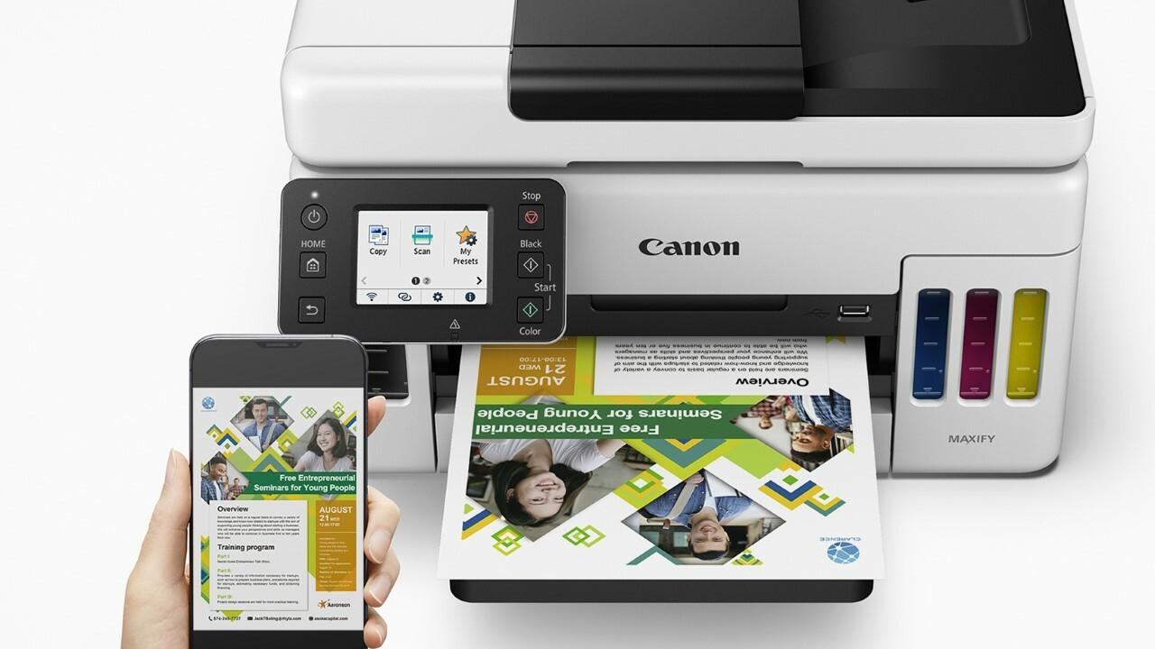 Использование телефона для печати на GX6020