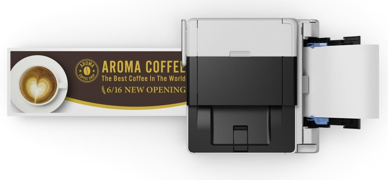 GX6020 может печатать на бумаге размером до 5 на 47 дюймов.