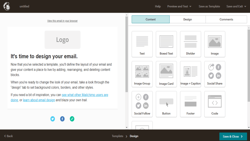 Mailchimp 2020 Template Controls