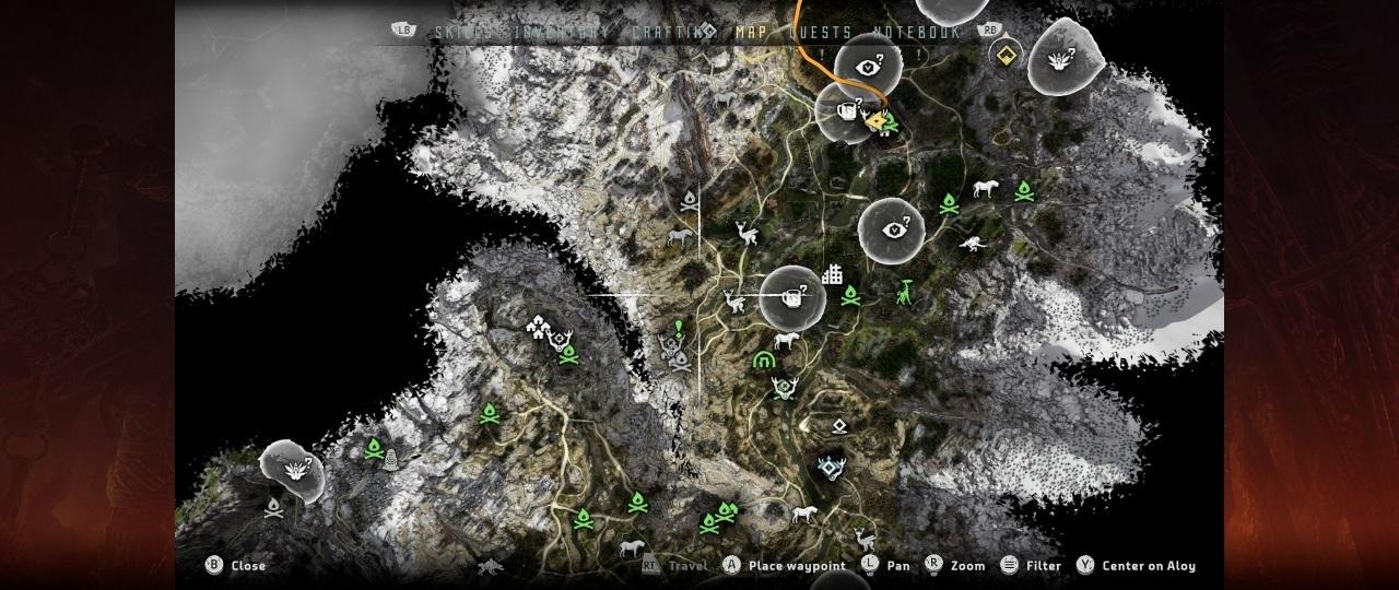Карта Horizon Zero Dawn: Complete Edition