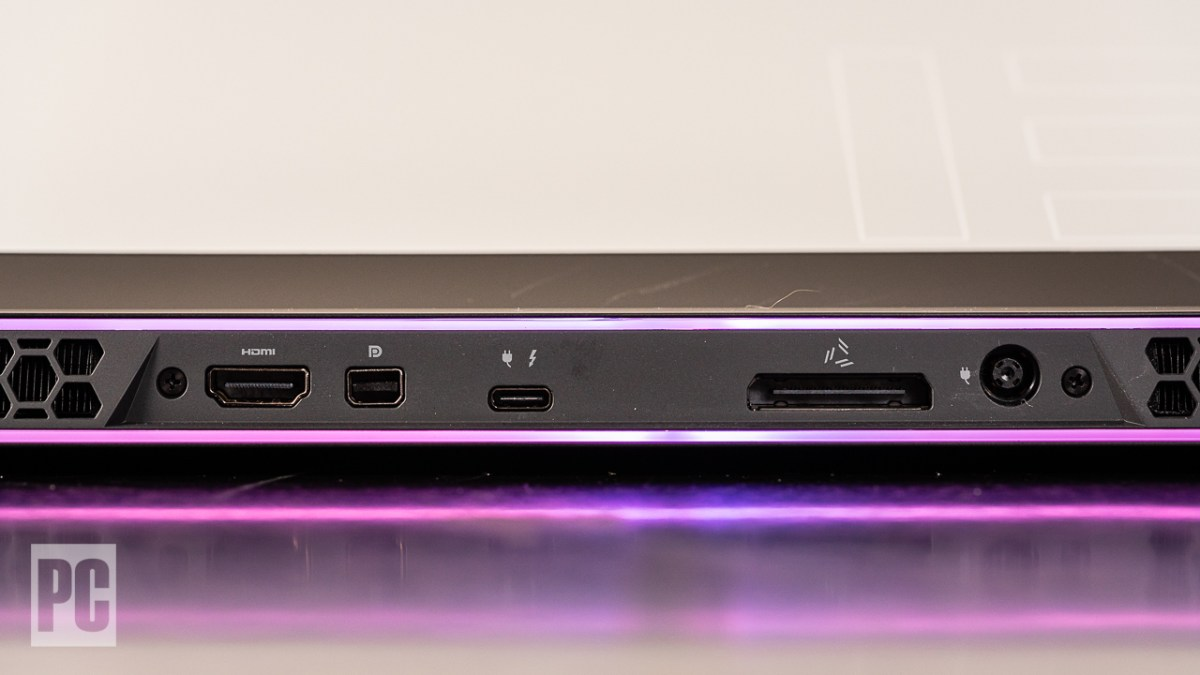 Alienware m15 R4 rear ports