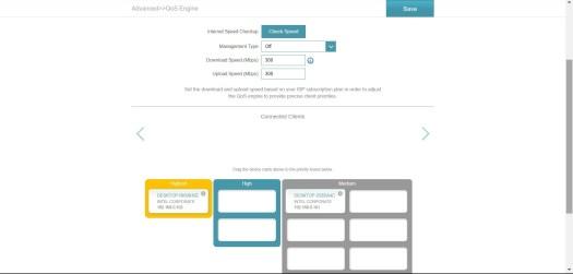 Capture d'écran de la configuration QoS du DIR-X1560 de D-Link