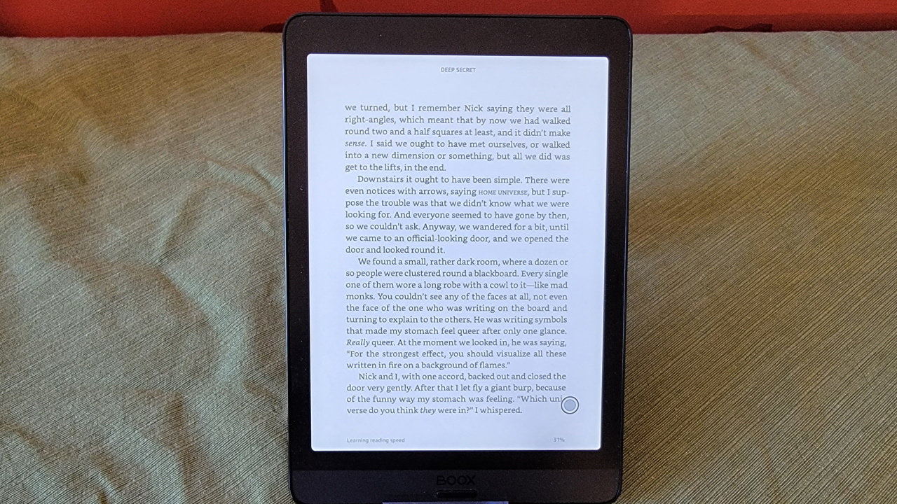 Приложение Amazon Kindle с книгой Kindle