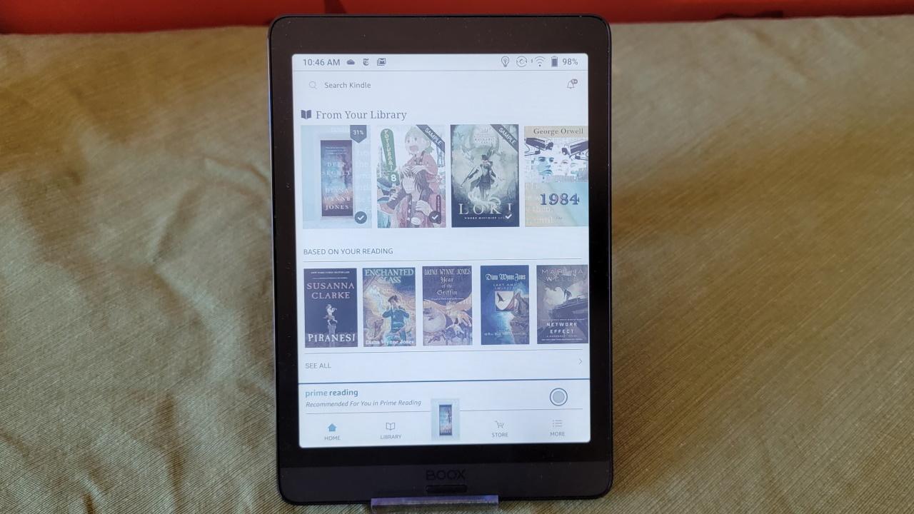 Страница магазина Kindle отображается на Nova3 Color