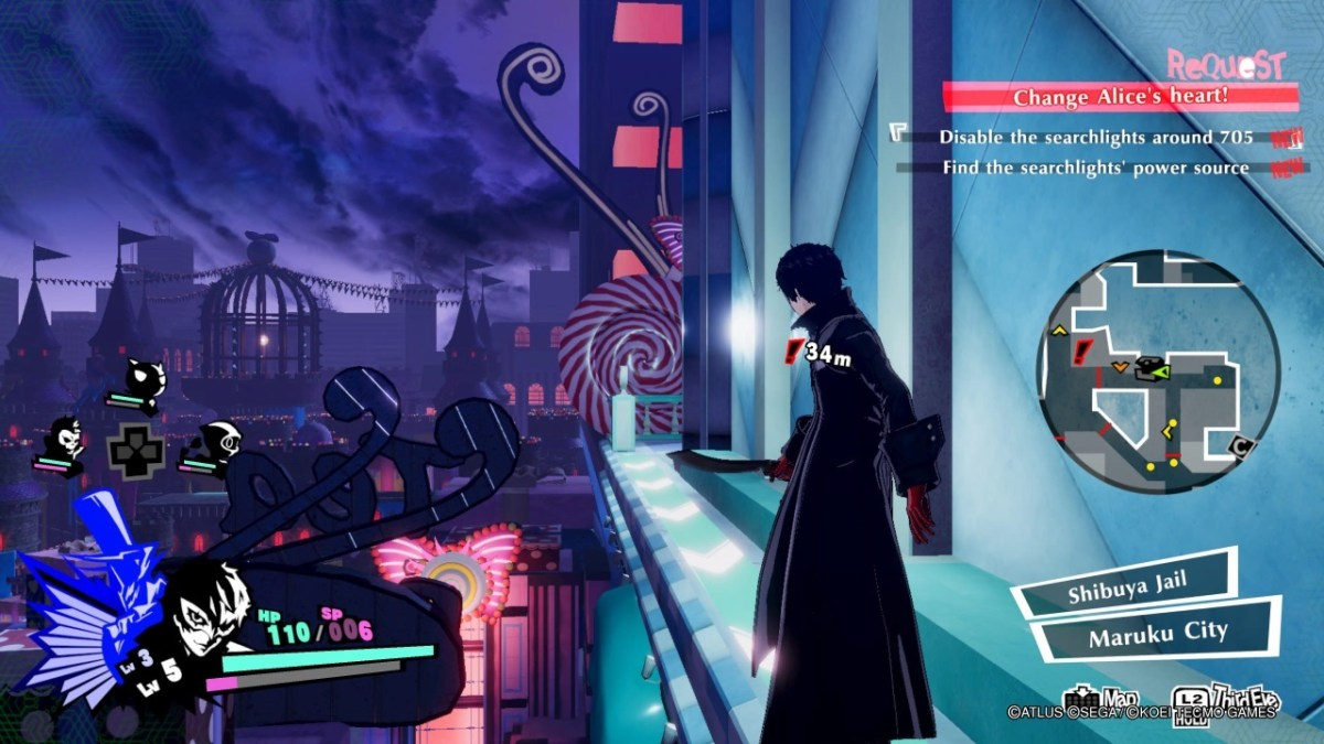Persona 5 Strikers environment