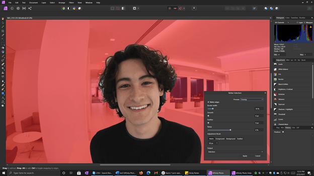 Selection in Serif Affinity Photo