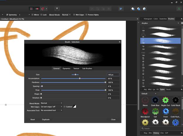 Brushes in Serif Affinity Photo