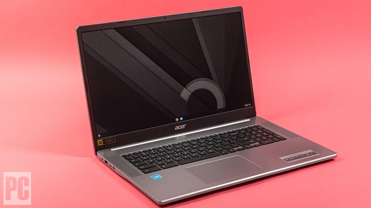Acer Chromebook 317, левый угол