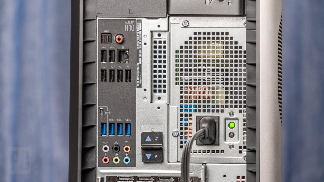 Порты Alienware Aurora Ryzen Edition R10 (2021) на задней панели