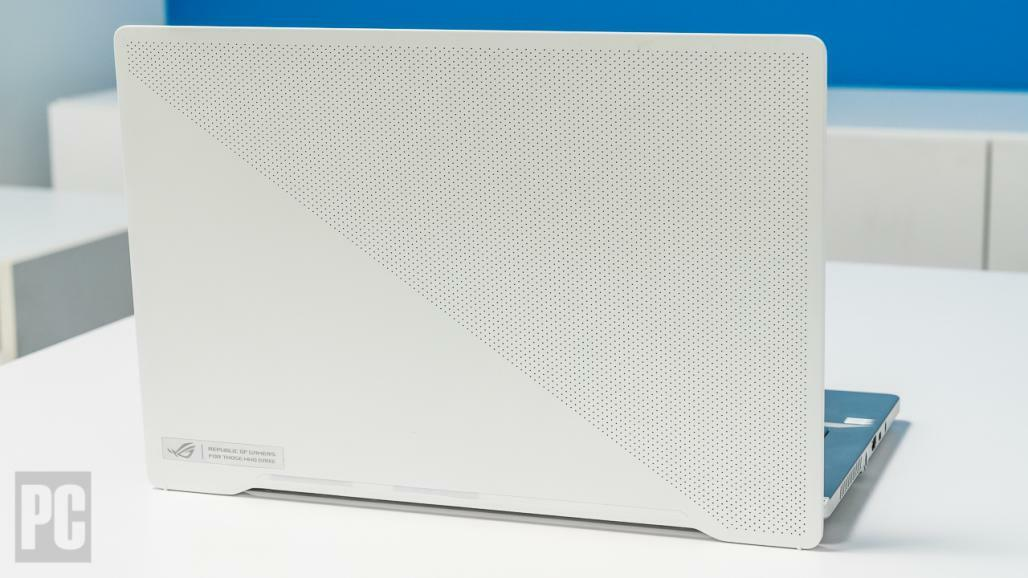 Laptop with white lid