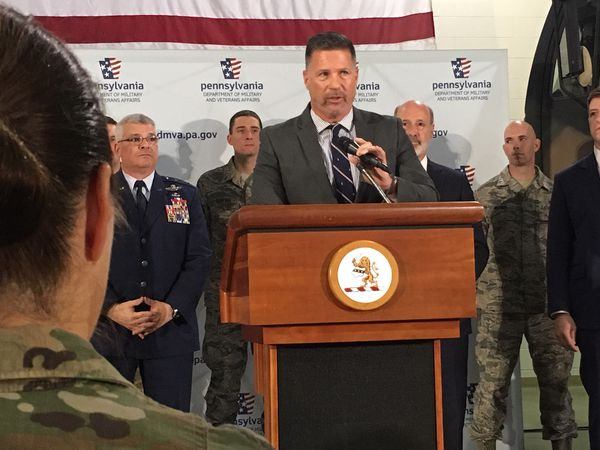Sen. Mike Regan, R-Cumberland County, discusses the benefits he sees being derived from the first-of-its-kind Military Family Education Program legislation that he will be introducing.