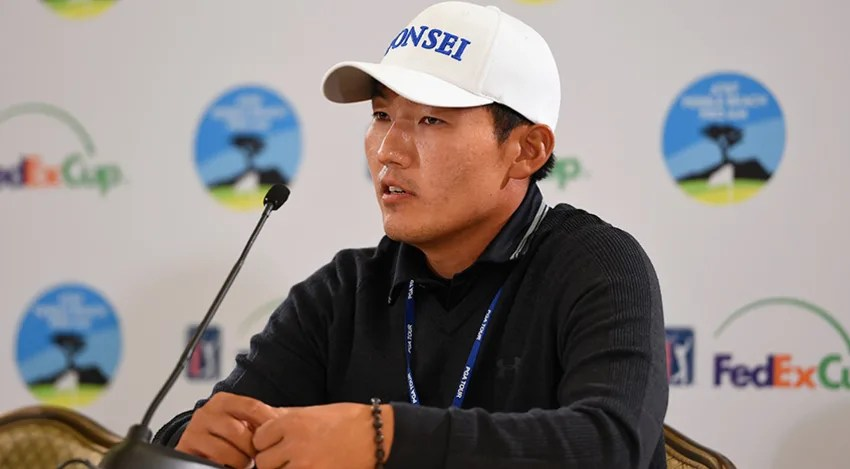 Sung Kang carded nine birdies and an eagle on Friday. (Josh Hedges/Getty Images)