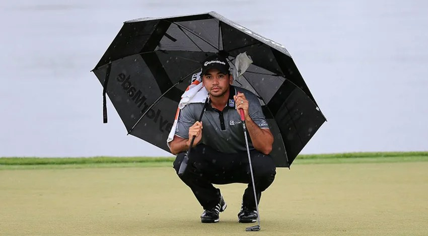 Jason Day lines up a putt on the 11th hole during the third round of the Arnold Palmer Invitational. (Chris Trotman/Getty Images)