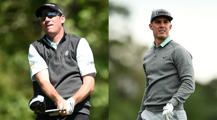 Jim Herman and Jamie Lovemark share the lead at 11 under heading into the final round of the Shell Houston Open (Stacy Revere/Getty Images)