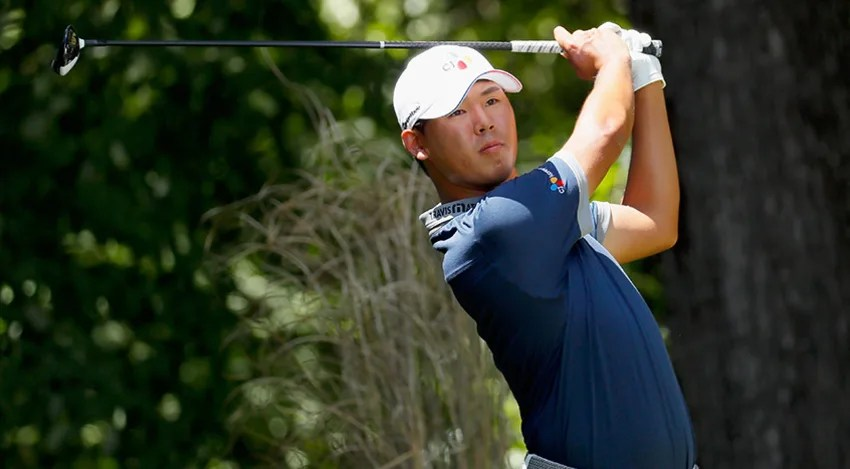 Si Woo Kim fired a 6-under 64 in the third round in Greensboro. (Kevin Cox/Getty Images)