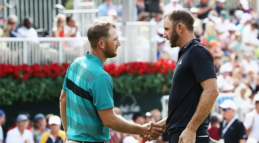 Dustin Johnson and Kevin Chappell will duel it out on Sunday as they will be paired together again for the final round of the TOUR Championship. (Sam Greenwood/Getty Images)