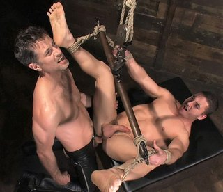 Marc Dylan is bound, beaten and fucked for the first time