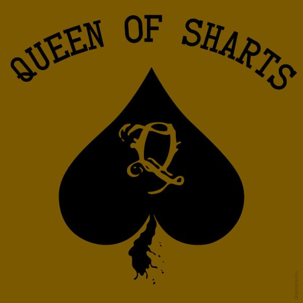 Queen of Sharts Sticker Product Image