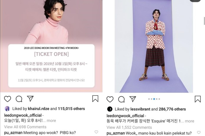 pu azman tinggalkan komen pada instagram lee dongwook