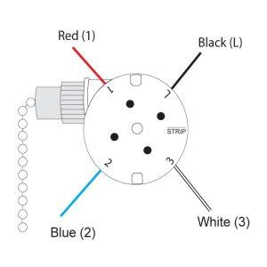 Zing Ear ZE208s Pull Chain 3 Speed 4 Wire Fan Rotary
