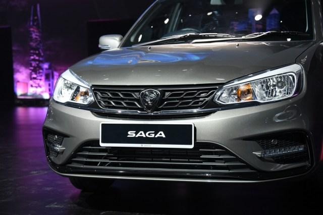 Bahagian hadapan Proton Saga 2019