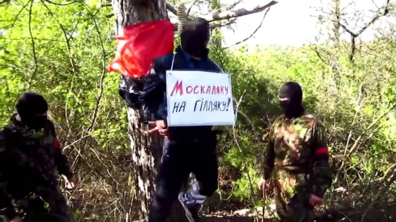 Egy orosz nemzetiségű rendőr felakasztása