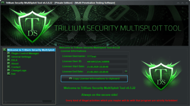 Trillium Security MultiSploit Tool v6.5.21 Full