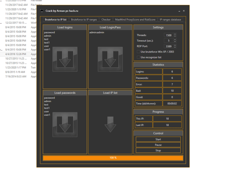 RDP Scanner and Bruter