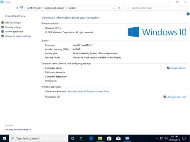 Windows 10 Pro en-US v1909 x64 BiT Activated