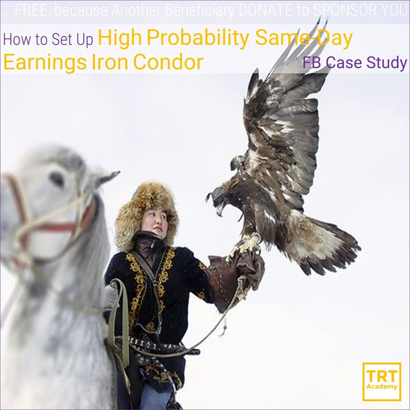 Yes! Send Me the Video – How to How to Set Up High Probability Same-Day Earnings Iron Condor – FB Case Study