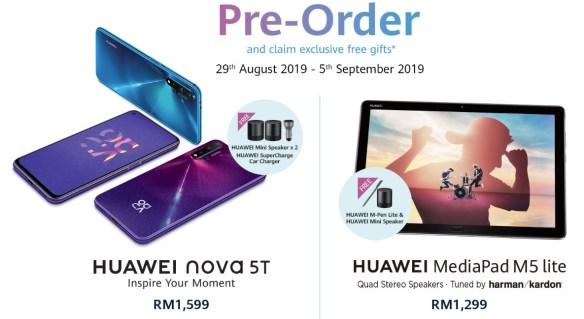 Tempahan awal Huawei nova 5T mulai hari ini