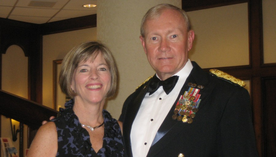 Martin Dempsey with his wife Deanie Dempsey