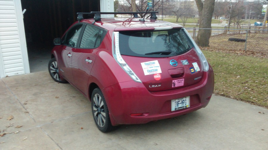 My 100% electric Nissan Leaf