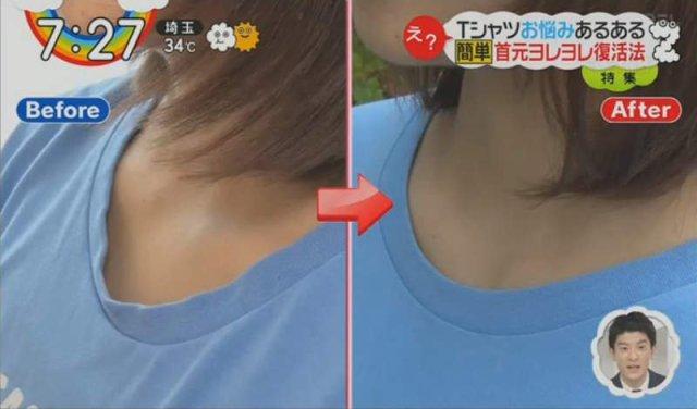 bahagian leher tshirt