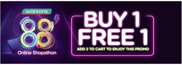 buy 1 free 1 watsons online shopathon