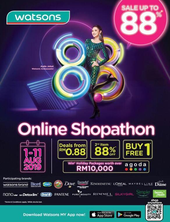 watsons malaysia online shopathon