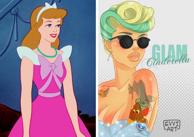 3 אמנים החליטו להפוך את הנסיכות המתוקות של דיסני לילדות רעות בנות זמננו. לא תאמינו איך הן נראות!