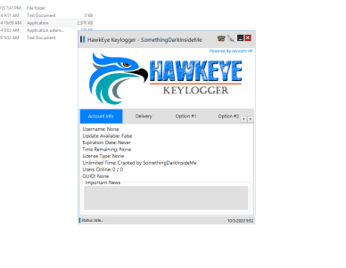 HawkEye Keylogger Cracked + Panel 2020