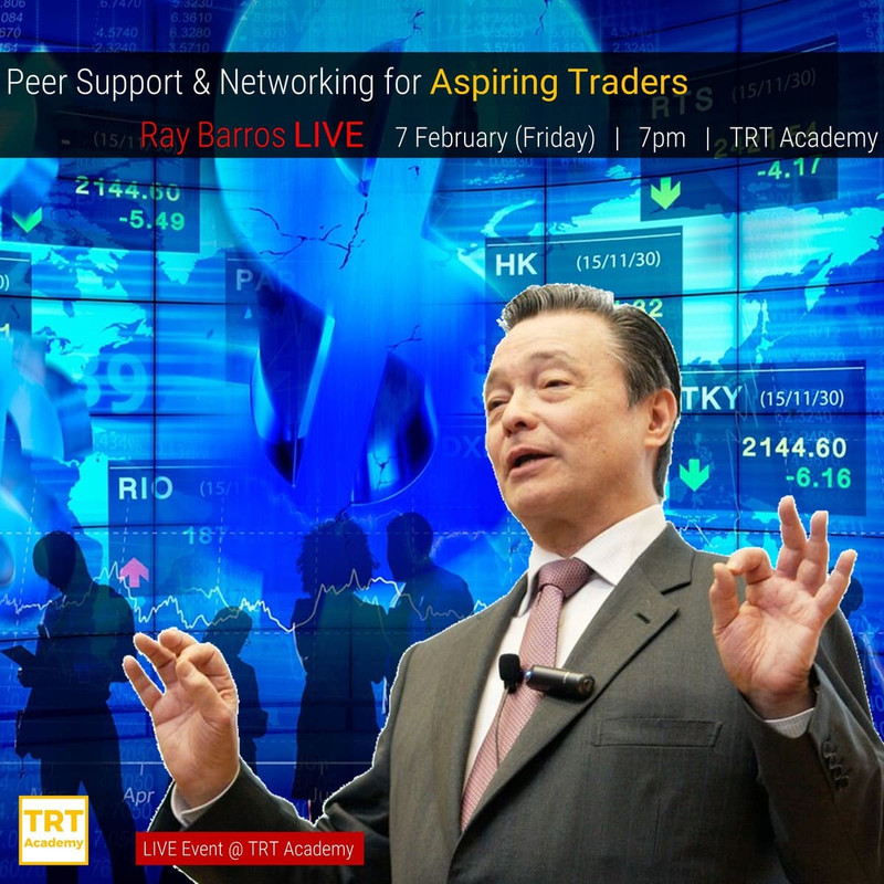 7 February – [LIVE Event @ TRT Academy]  Peer Support & Networking for Aspiring Traders – Ray Barros Special