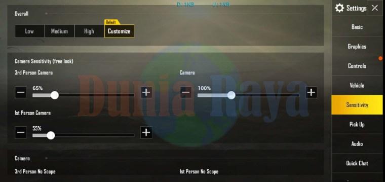 Sensitivitas PUBG Mobile